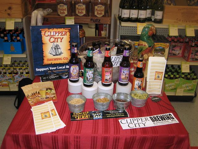 promoting Clipper City beer